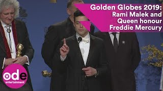 Golden Globes 2019: Rami Malek and Queen honour Freddie Mercury