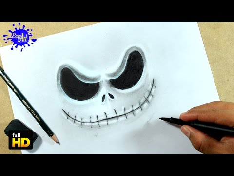 DRAWING FACE JACK SKELLINGTON/ How to draw Jack skellington - YouTube