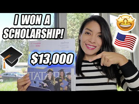 How to get a scholarship easily in the USA (I won 13,000 dollars!)