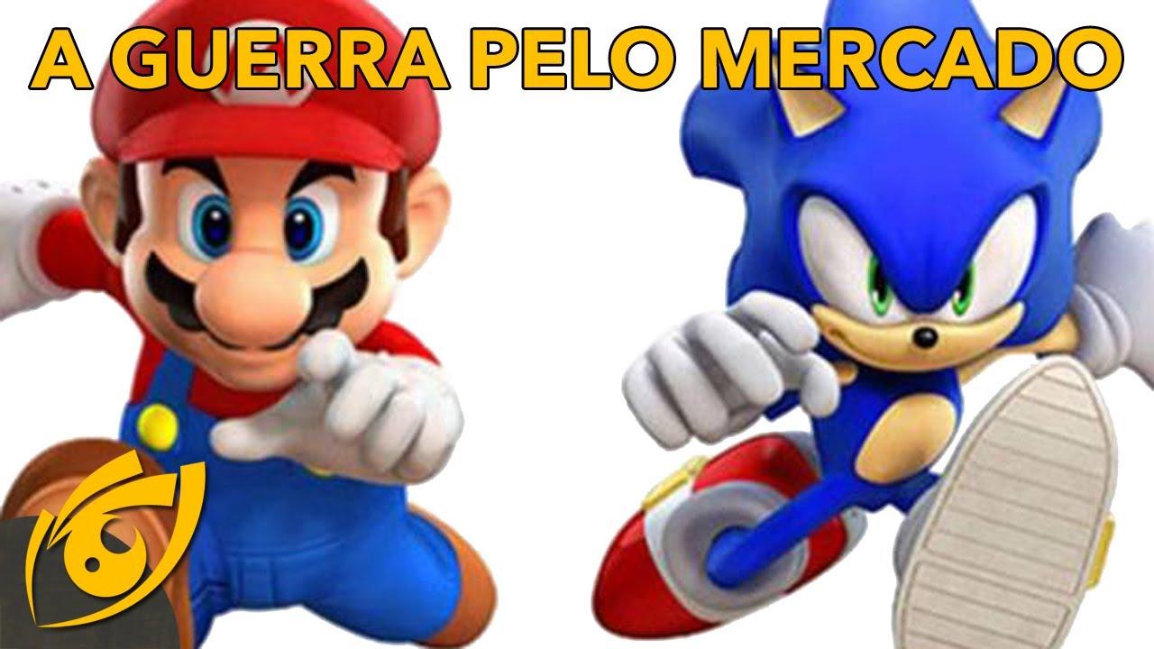 "Como as ""consoles wars"" entre Sega, Sony, Nintendo favoreceram os consumidores ao longo dos anos."