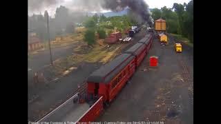 7/14/2018 Eight car train 216 departs Chama, NM