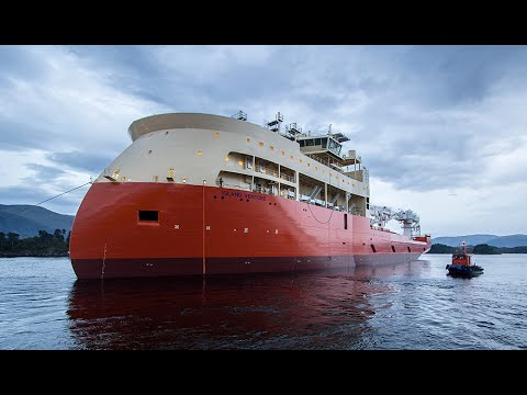 OCV Island Venture launch from Ulstein Verft
