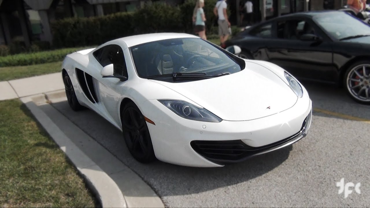 White McLaren MP4-12C Sound! - YouTube