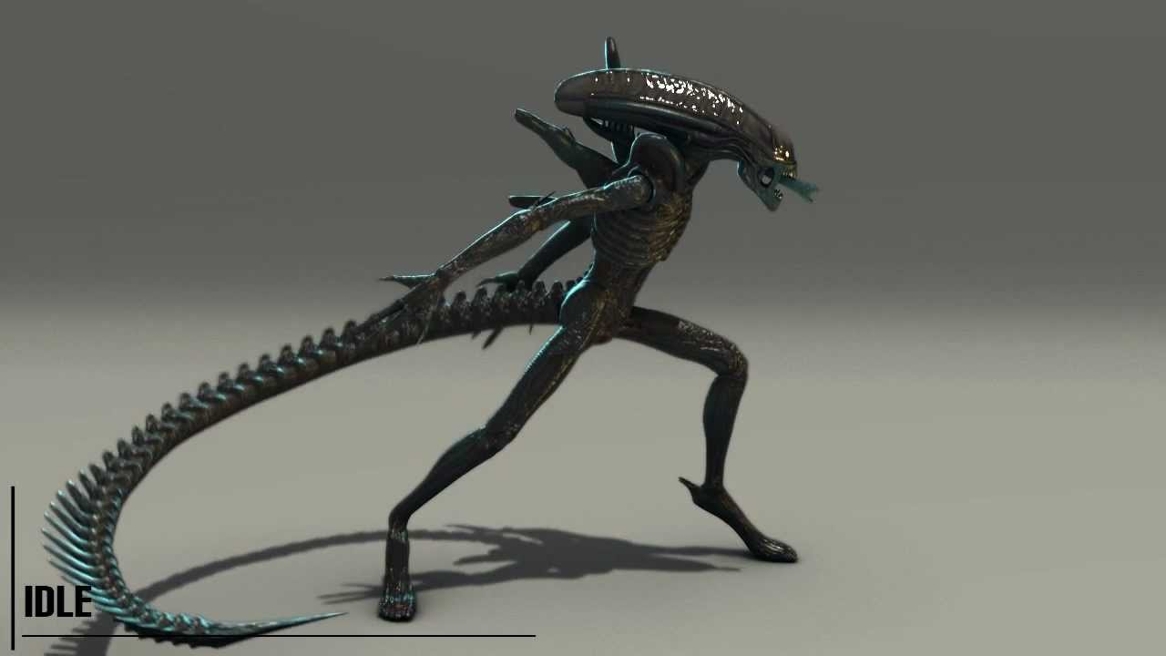 3d animation alien - 4 5