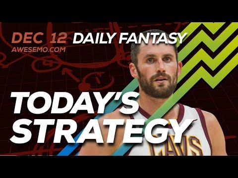 NBA DFS Strategy - Thu 12/12 - Awesemo.com