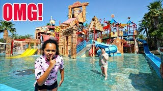 SNEAKING INTO A CLOSED WATERPARK!! * SECURITY CHASE *