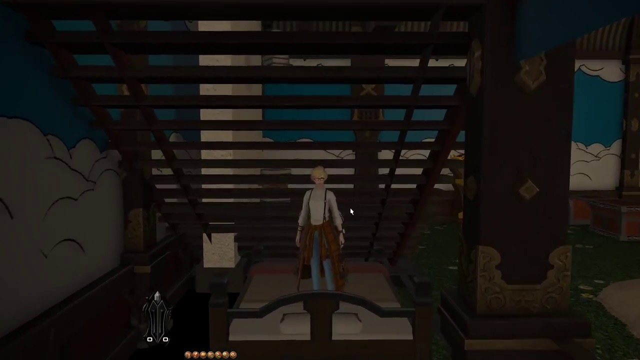 FFXIV Shirogane Small: Place items under stairs