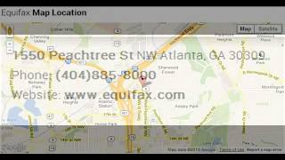 Equifax Corporate Office Contact Information Thumbnail