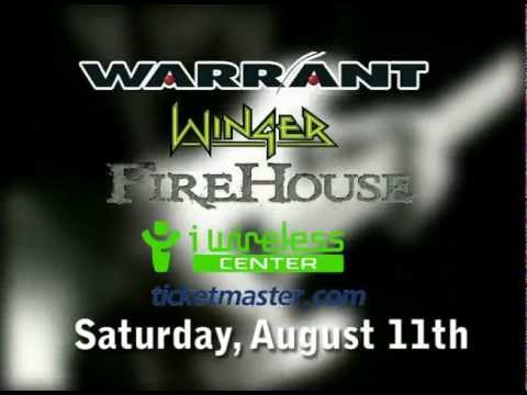 Warrant Live @ i wireless Center with Special Guests Winger and Firehouse,  Saturday, Aug  11th