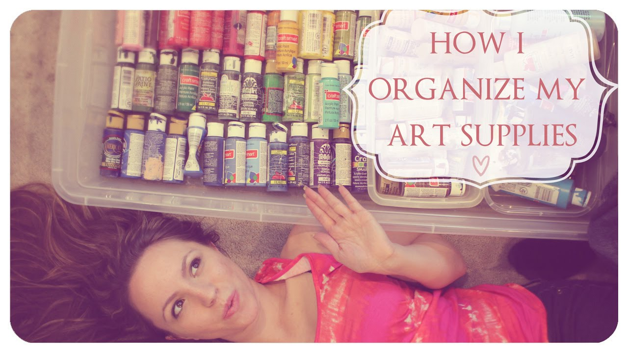 how i organize my art supplies youtube. Black Bedroom Furniture Sets. Home Design Ideas