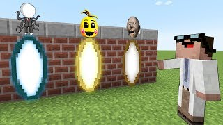 Какой портал в майнкрафт Доктор Нуб выберет? Гренни - Granny / Слендермен / Фнаф в minecraft