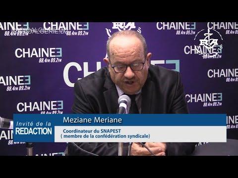 Meziane Meriane  Coordinateur du SNAPEST