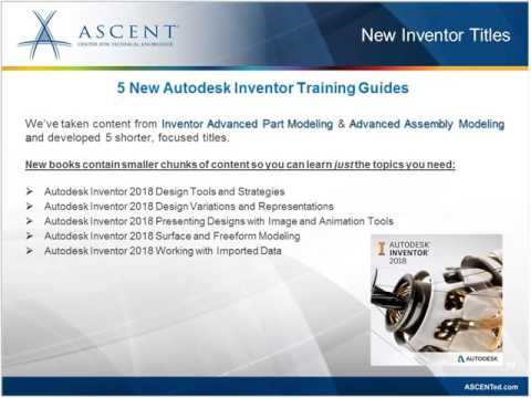 ASCENT Webcast: Autodesk 2018 Courseware Updates & More