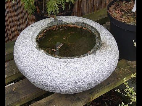 Japanese concrete water basin making