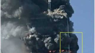 David Chandler show proof of cutter charge blowing corner column on WTC North Tower on 911