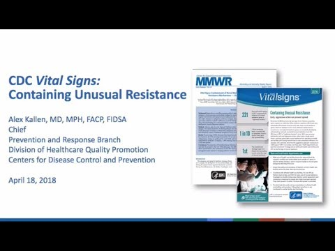CDC Vital Signs: Containing Unusual Resistance