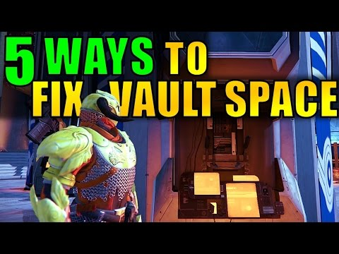 Destiny: 5 Ways to FIX VAULT SPACE (Without Increasing Vault Space)! Age of Triumph