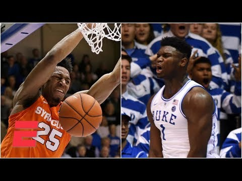 Zion's 35 not enough, Duke loses to Syracuse in OT | College Basketball Highlights