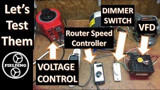Will A Dimmer Switch or Transformer Control An Induction Motor's Speed: 038