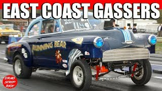 2012 East Coast Gassers Drag Racing Cars Jalopy Showdown Drags Video