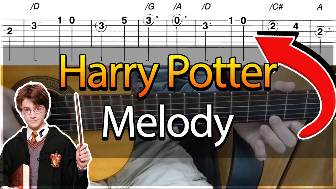how to play harry potter on guitar tab
