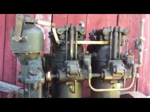 Cummins Diesel Engines >> 1925 cummins model F two cylinder diesel engine - YouTube