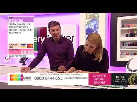 How To Make Macrame Jewellery - JewelleryMaker LIVE (AM) 1/11/2014