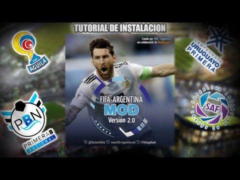 TUTORIAL INSTALACION FA MOD 2.0 | F-A MOD V2 | FIFA ARGENTINA MOD 2