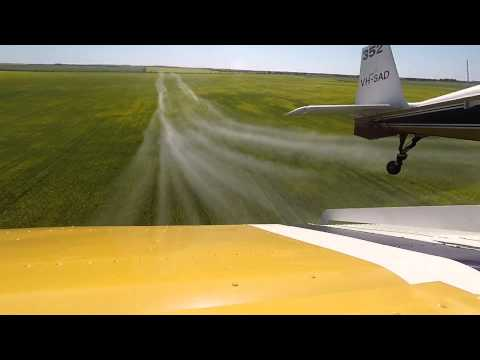 Aerial spraying fungicide trial 2015