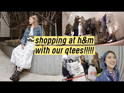 Shopping in Korea: H&M Shopping With Our Qtees!!! OMG❤️   Q2HAN