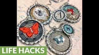 14 DIY bottle caps jewelry ideas