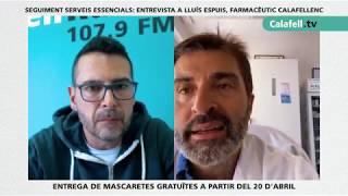 Parlem amb el farmacèutic Lluís Espuis sobre l'activitat en la seva farmàcia durant aquests dies