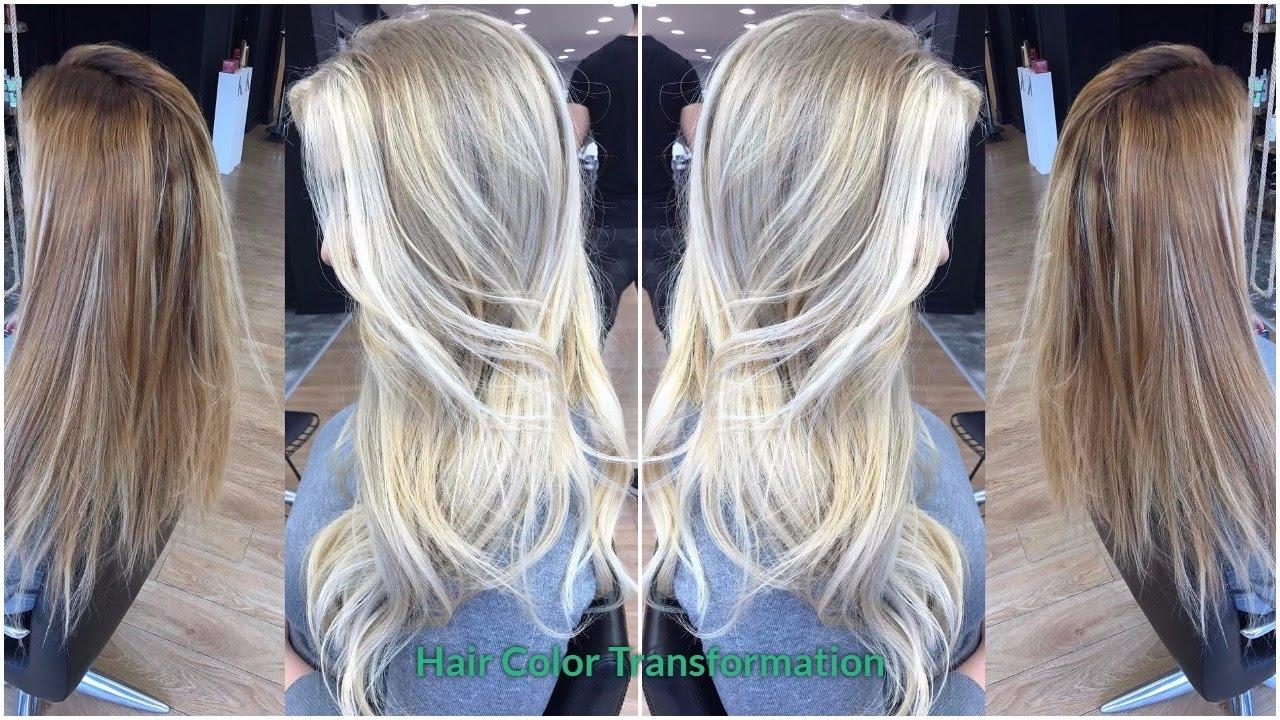 Hair Color Transformation Chocolate To Platinum Blonde Videos
