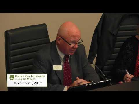 GRF Meeting December 5, 2017
