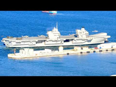 Arrival of HMS Queen Elizabeth and HMS Somerset to GIbraltar
