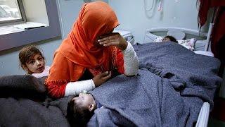 Химическая атака в Мосуле  люди бегут из города
