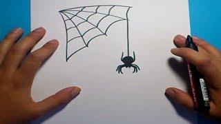 Como dibujar una araña paso a paso 5 | How to draw a spider 5