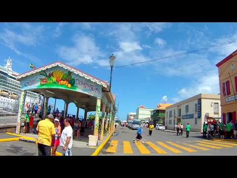 Driving around Dominica port of Roseau 5 months before Category 5 hurricane Maria hit the island