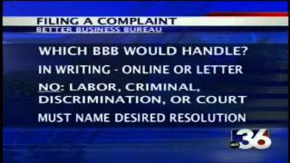ABC 36 News at Noon/12:30 BBB - Filing Complaints 7-27