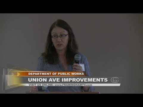 Framingham Public Works-Union Avenue Utilities Neighborhood Meeting 2016