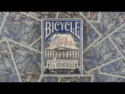 Bicycle US Presidents Blue Playing Cards | Deck Review -Display