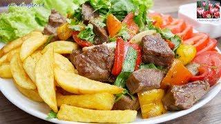 Bò Lúc Lắc - Khoai Tây chiên giòn - Cách ướp và Xào thịt Bò Lúc Lắc mềm ngon đúng vị by Vanh Khuyen