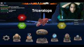 Roblox Dinosaur Simulator ||| Challenge Triceratops part2 ||| juvenile to young adult ||| Hrithik