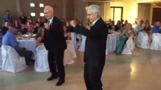 Poppa Wayne & Big Daddy Barry dancin' for the bride (Melissa Yelvington)
