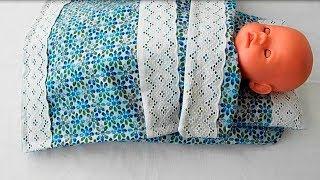 Как сшить одеяло для куклы. Кукольная постелька. Bed for dolls