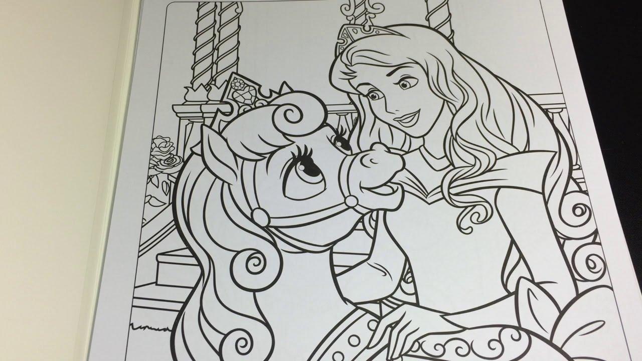 Palace Pets Princess Aurora Sleeping Beauty Speed Coloring