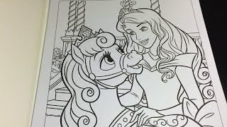 Coloring Time Episode #14: Disney Palace Pets & Princess Aurora Sleeping Beauty Speed Coloring