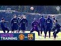Manchester United train ahead of Barcelona visit   UEFA Champions League   Pogba, Rashford, Martial
