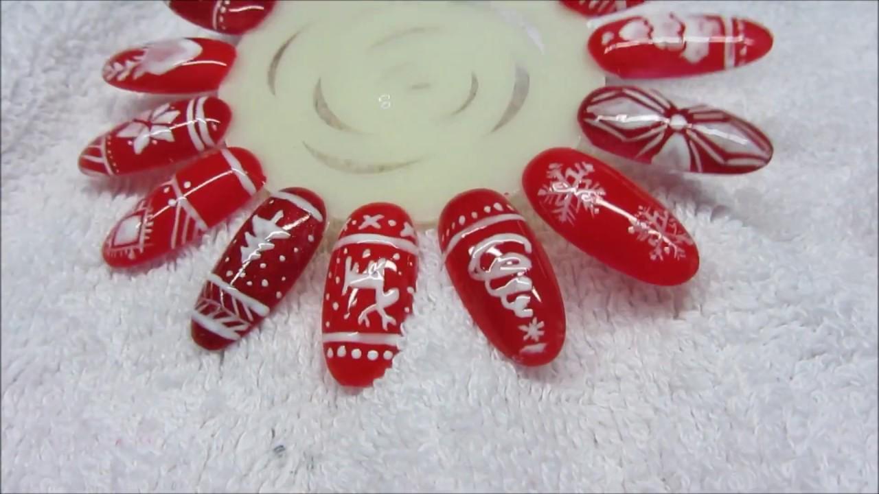 Easy Christmas Ideas For Nails Zdobienia Swiateczne Na