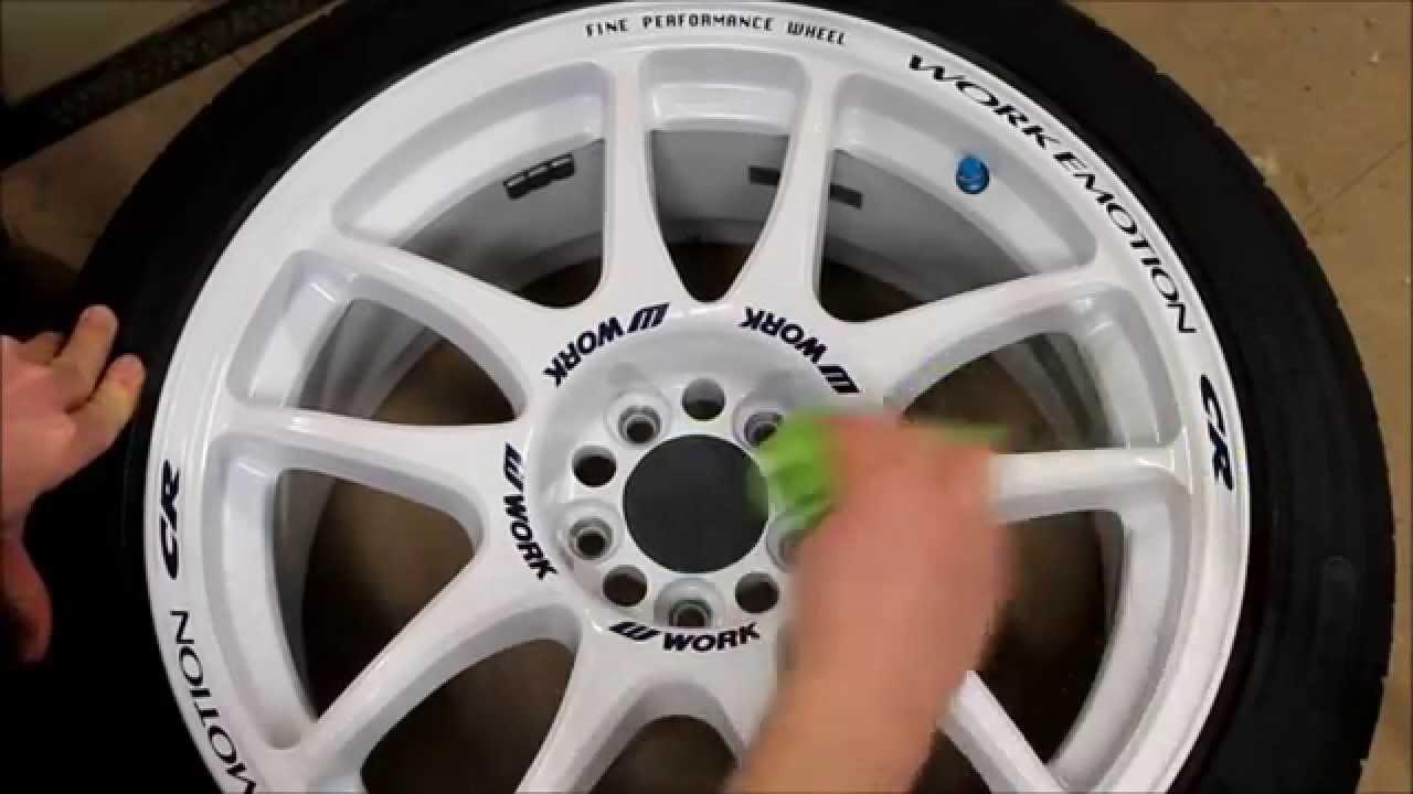 Work Emotion CR Kai DIY White Rims polish against brake